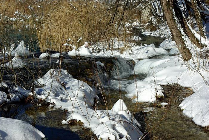 Плитвицкие озёра зимой - Зимняя сказка. 25571
