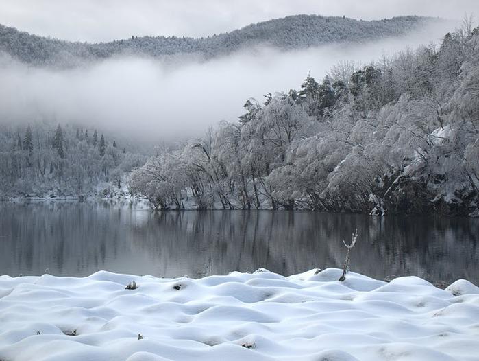 Плитвицкие озёра зимой - Зимняя сказка. 69500