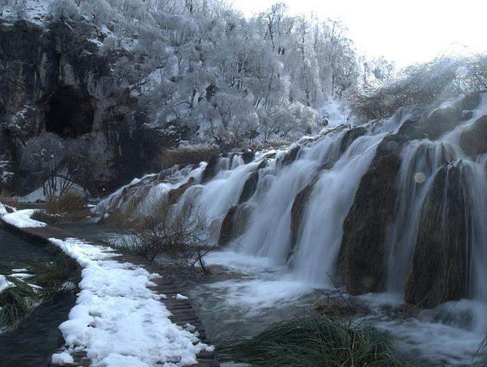 Плитвицкие озёра зимой - Зимняя сказка. 13661