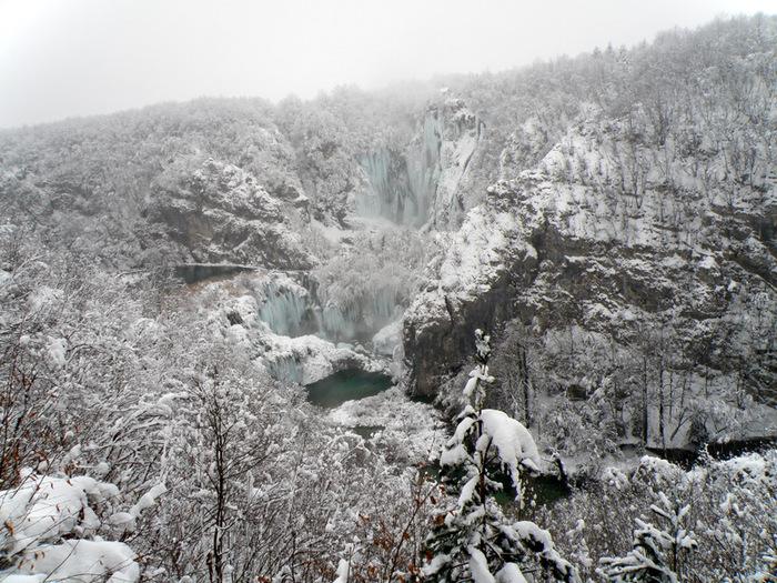 Плитвицкие озёра зимой - Зимняя сказка. 53415