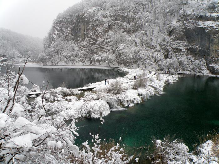 Плитвицкие озёра зимой - Зимняя сказка. 95898