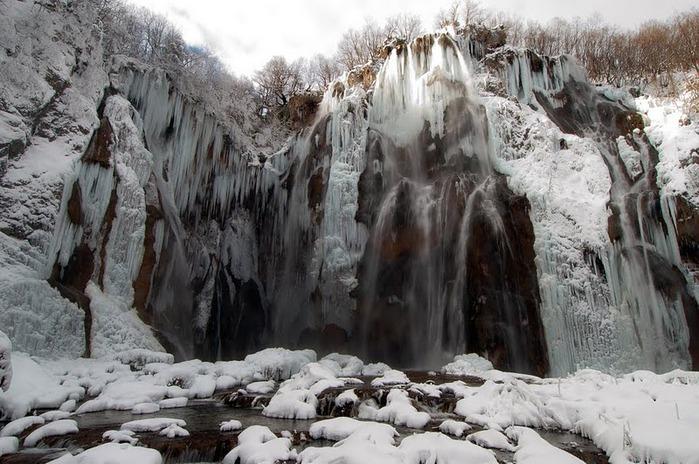 Плитвицкие озёра зимой - Зимняя сказка. 87844