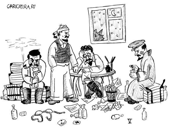 Болит голова после пьянки - caricatura.ru