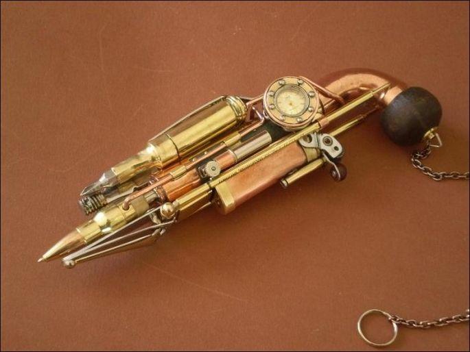 Ручка для гиков в стиле стимпанк 1