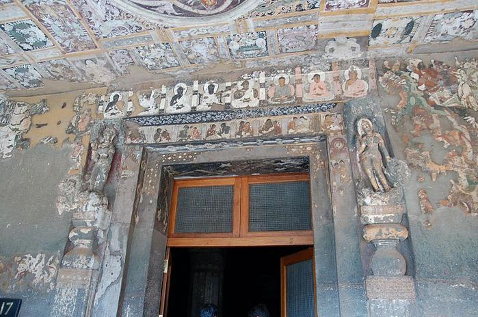Фрески Аджанты - История на каменных сводах 88606