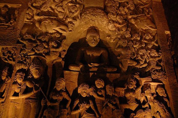 Фрески Аджанты - История на каменных сводах 58756