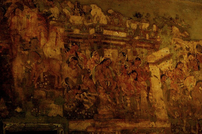 Фрески Аджанты - История на каменных сводах 80328