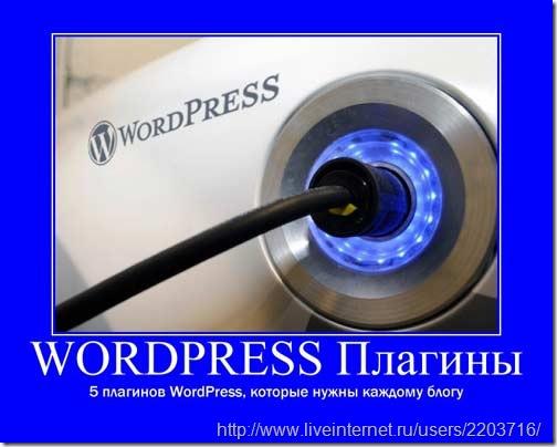 нужные плагины wordpress