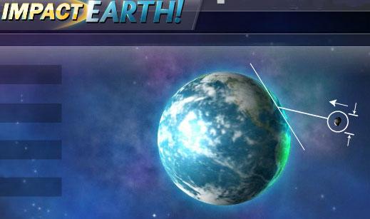 астероид падает на планету