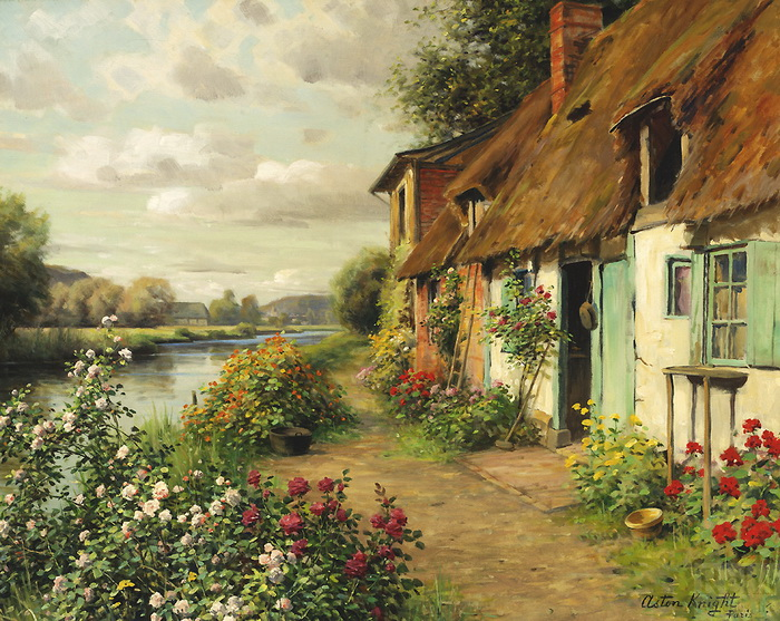 louis_aston_knight_b1228_the_blue_cottage_wm (700x557, 230 Kb)