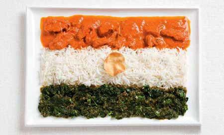 Национальные флаги из национальной еды