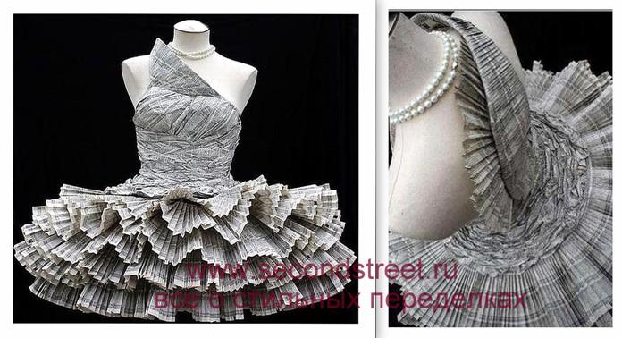 Платье из бумаги схема