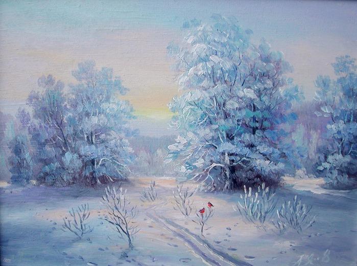 картина зима: