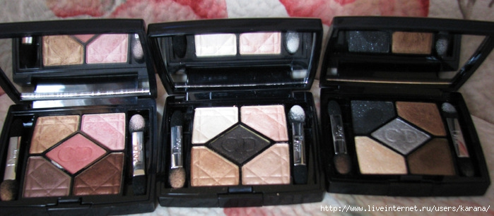 Dior 659 Crush Glow, Dior 529 Endless Shine, Dior 001 Five Golds