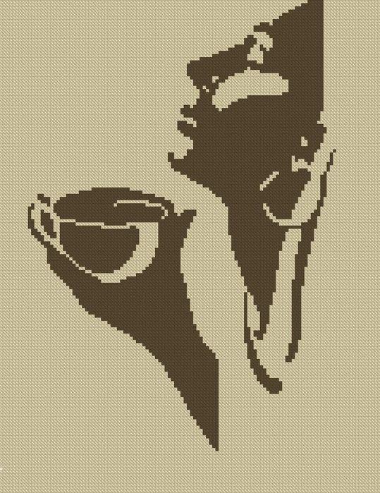 Часть 3 - Кофейная вышивка .