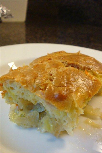 Пирог «Ленивая капустница»