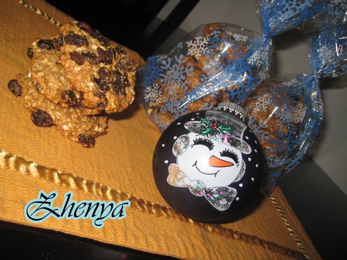 Очень вкусные и низкокаллорийные овсяные печеньки