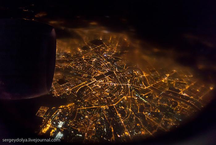 Питер с высоты самолета