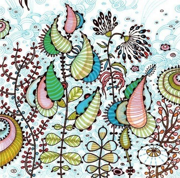 Красивые цветочные узоры от Yellena 9