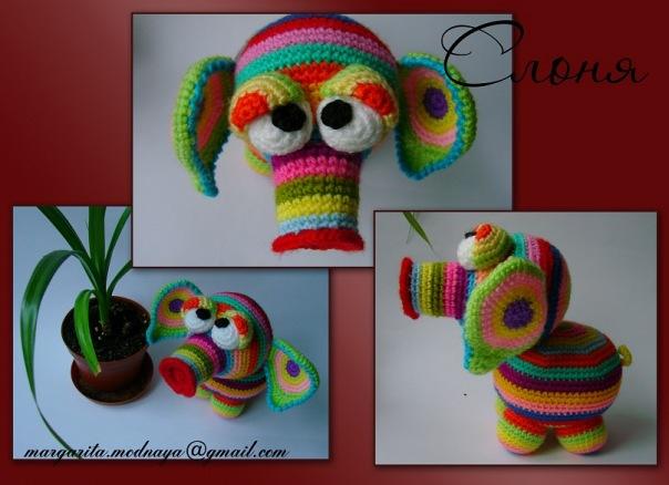 Разноцветный слоня