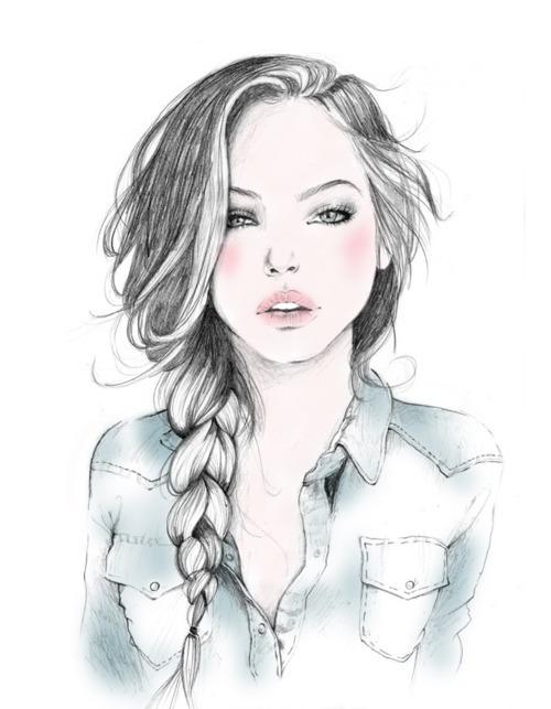 картинки девушек нарисованные красивых