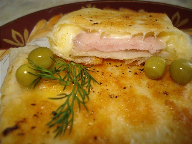 рецепт конвертики с ветчиной и сыром