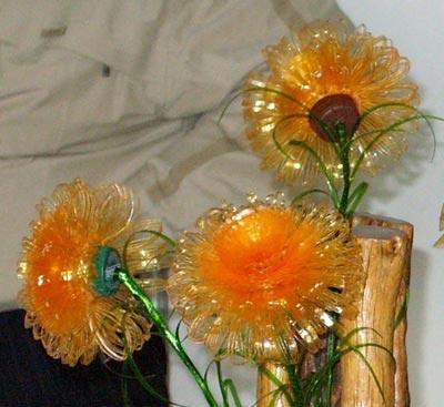 Цветы из плёнки своими руками