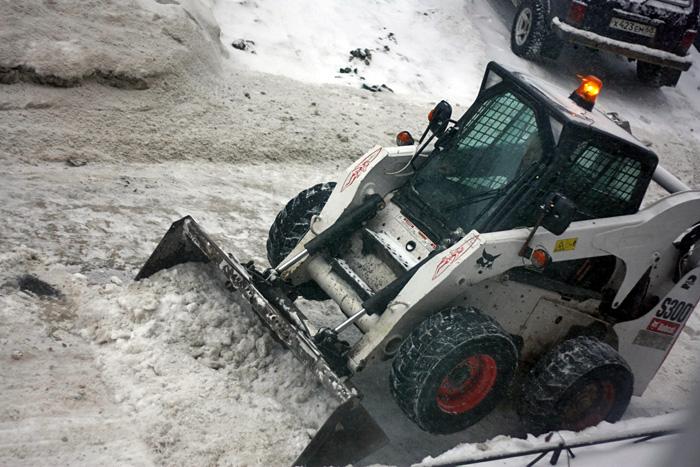 уборка снега...