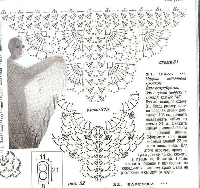 схема для шали.ракушки
