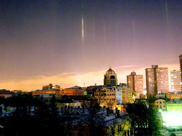 Северное сияние в Москве