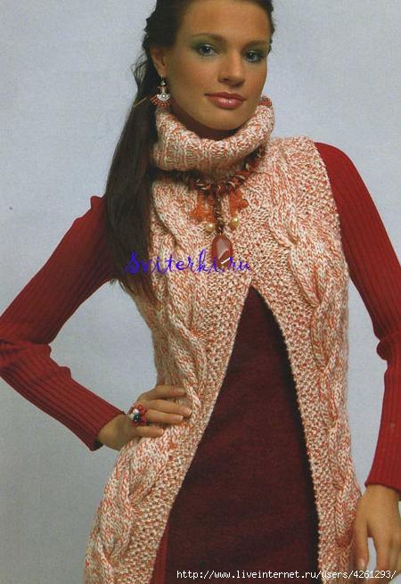 Вязание модного жилета