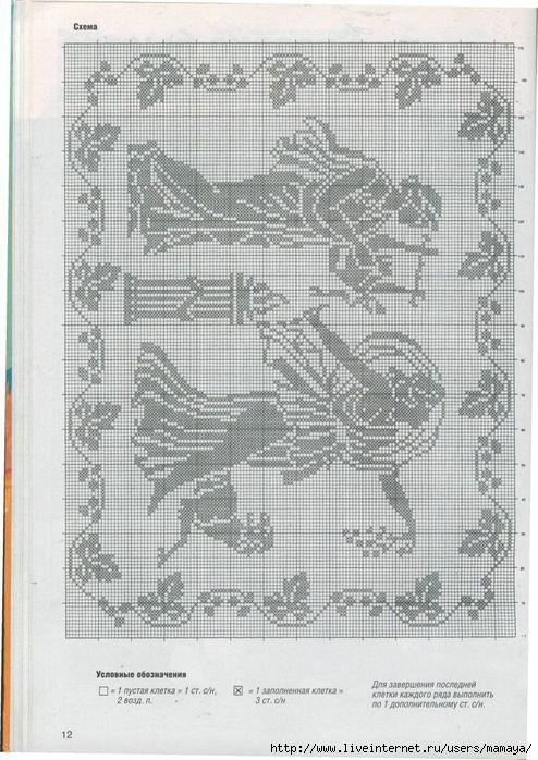 Схемы вязания штор