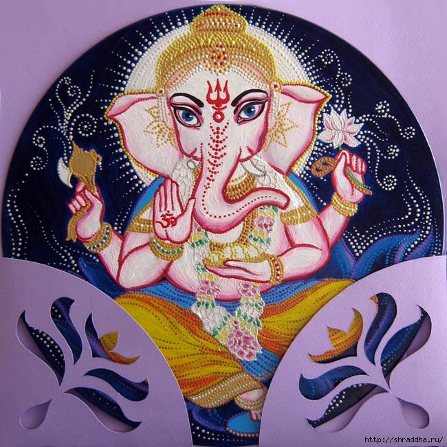 Индийский Бог Ганеша акрил Shraddha