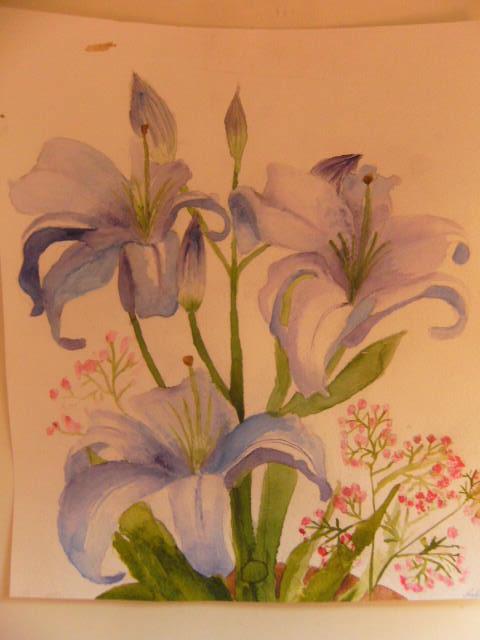 рисунок лилии: