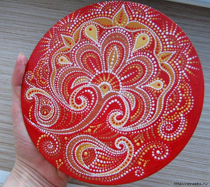 огенный цветок роспись акрилом Shraddha
