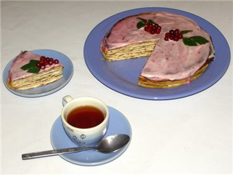 рецепт блинного пирога