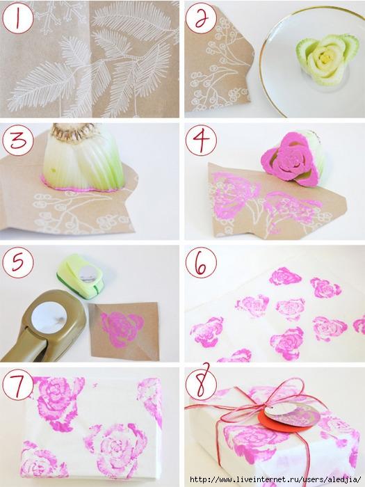 Как украсить подарок своими руками