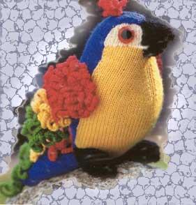 Вязание попугая на спицах