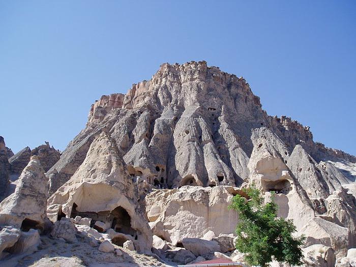 вырубленный в скалах - монастырь Селиме (Selime) 34720