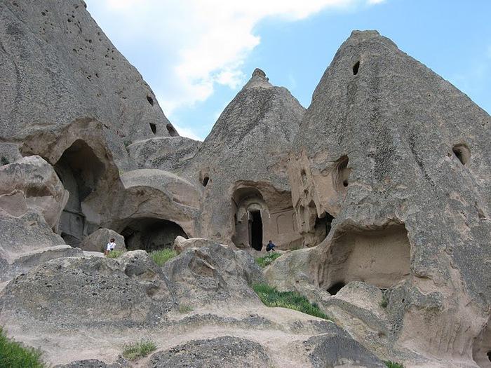 вырубленный в скалах - монастырь Селиме (Selime) 57326