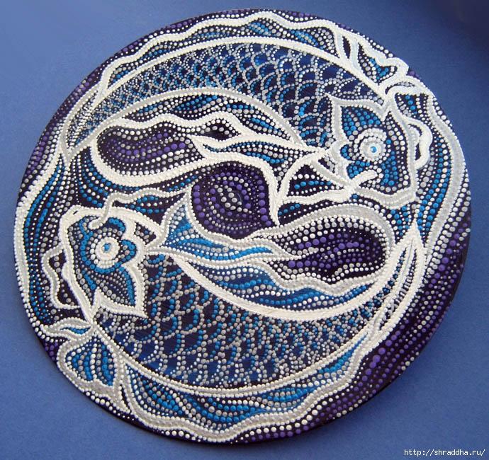 рыбы гороскоп акрил роспись