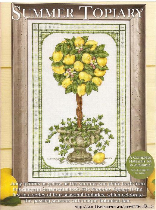 """Картина """"Лимонное дерево"""""""