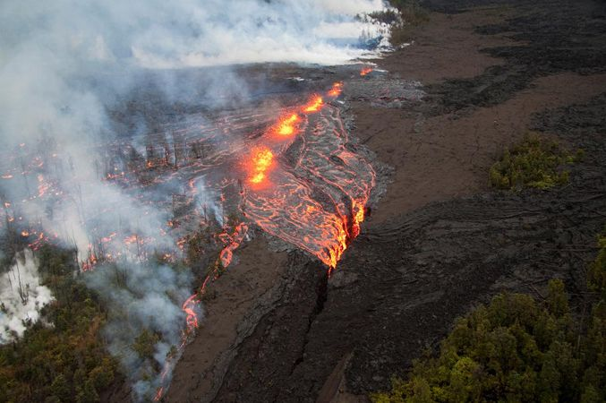 активизировался вулкан Килауэа