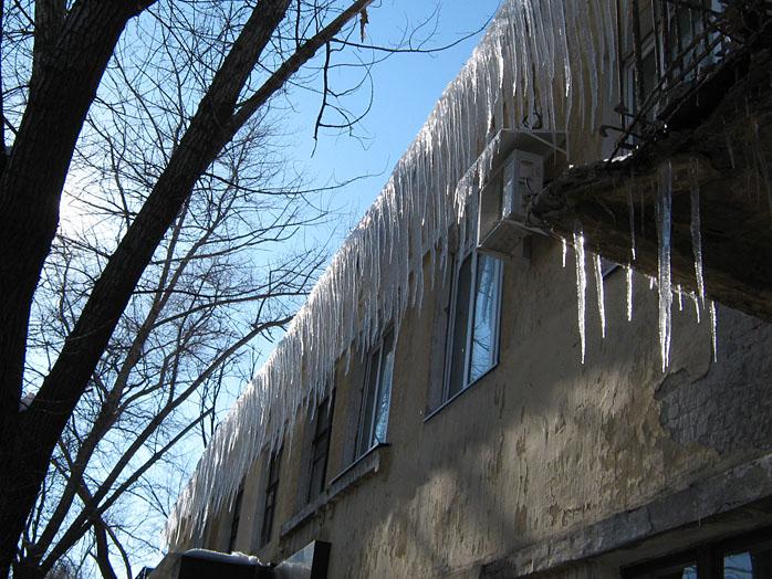 сосульки, Воронеж, март, весна, капель