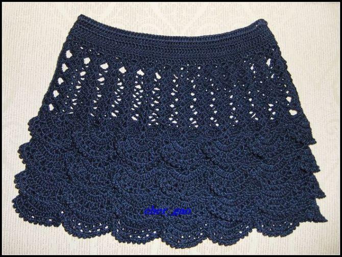 Как связать маленькую юбку