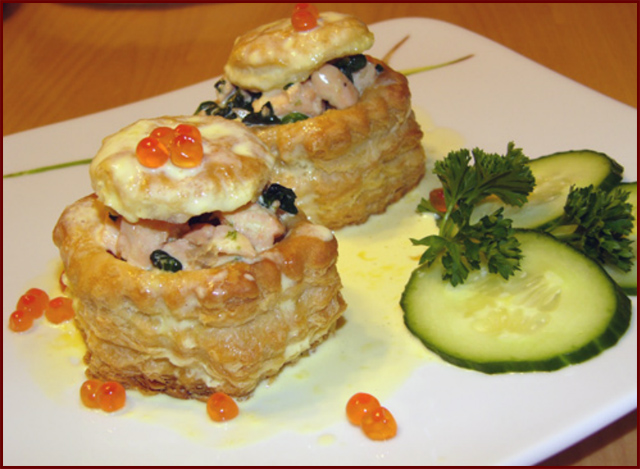 пирожки с лососем