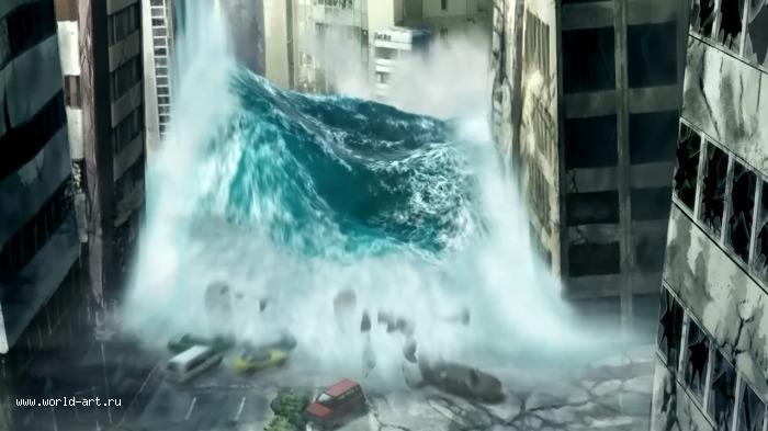 цунами в токио