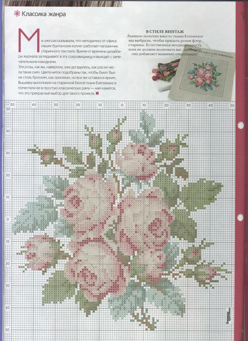 embroidery: rose picture
