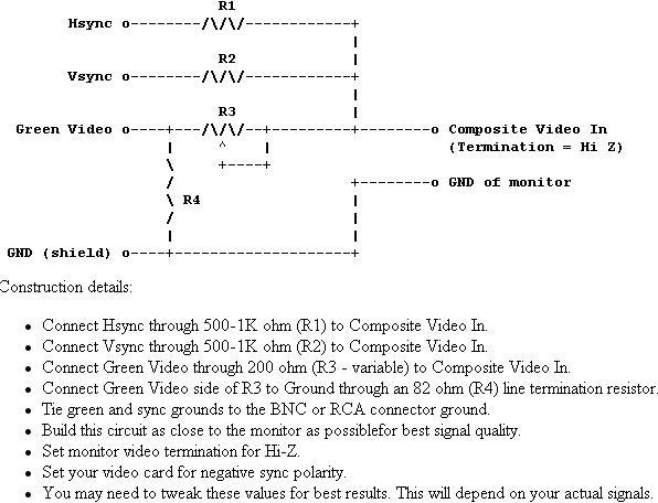 Вот еще один VGA монохромный