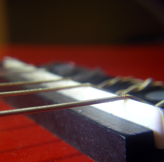 гитара, струны, учиться, макро